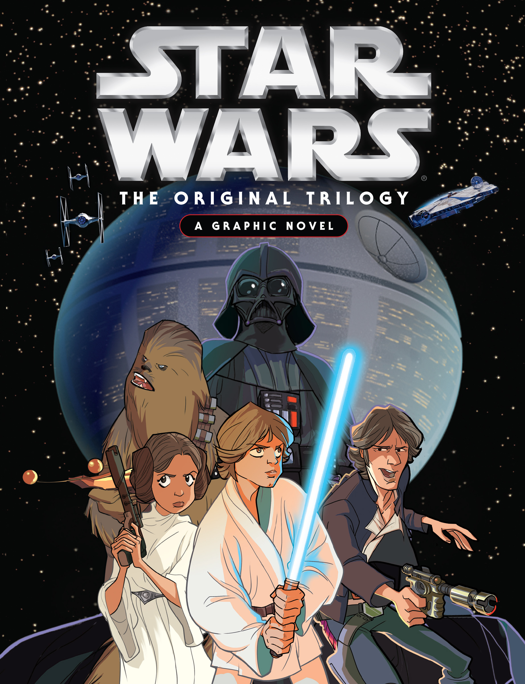 Graphic Novel Book Cover : Making star wars the original trilogy a graphic novel