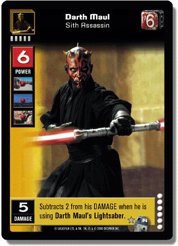 Star Wars Young Jedi  ccg Duel Of The Fates
