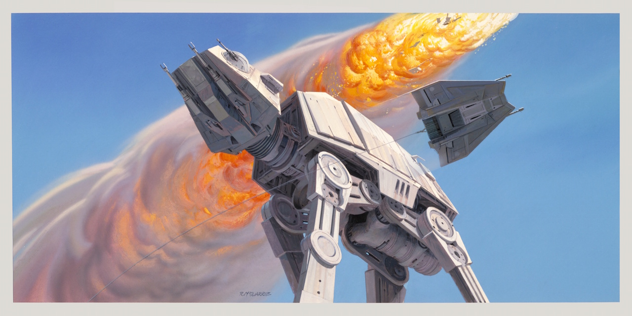 Ralph McQuarrie concept art of the AT-AT