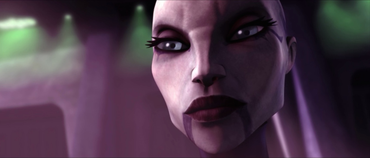 Asajj Ventress in Star Wars: The Clone Wars.