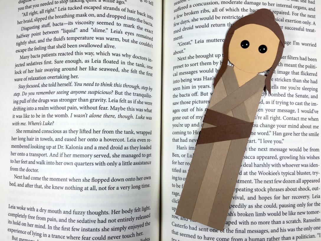 photo regarding Star Wars Bookmark Printable identified as Star Wars Working day Crafts: Felt Chewbacca Bookmark