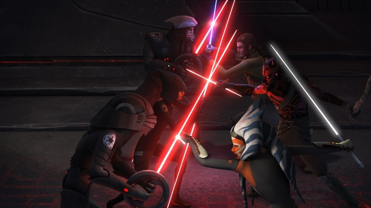 Star Wars Rebels - Ahsoka, Kanan, and Maul versus Inquisitors