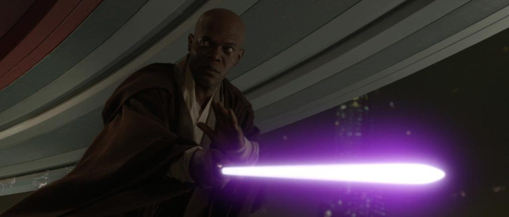 Mace Windu bests Palpatine in Revenge of the Sith