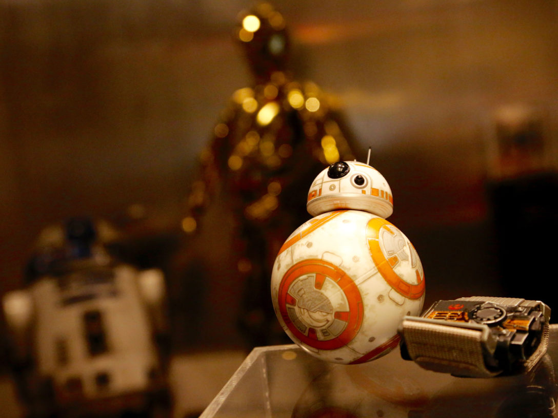 Close-up shot of Sphero's BB-8