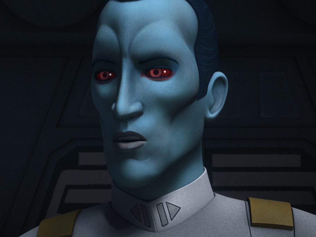 Close-up shot of Grand Admiral Thrawn