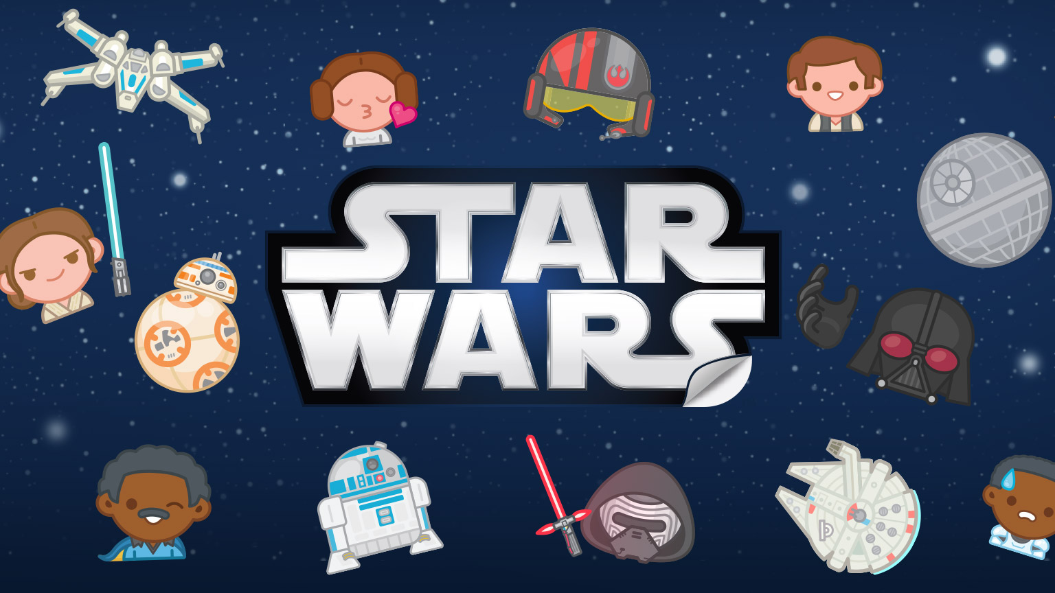 Awaken your messages with exclusive star wars stickers