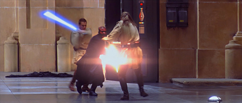 Darth Maul vs. Obi-Wan and Qui-Gon
