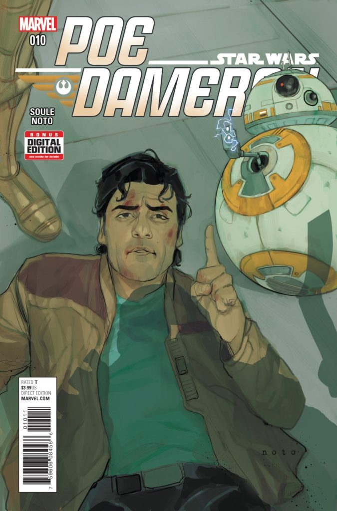 Poe Dameron #10 cover by Phil Noto.