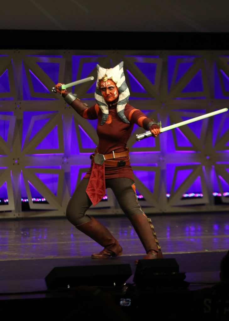 Ahsoka Tano cosplay at Star Wars Celebration Orlando.