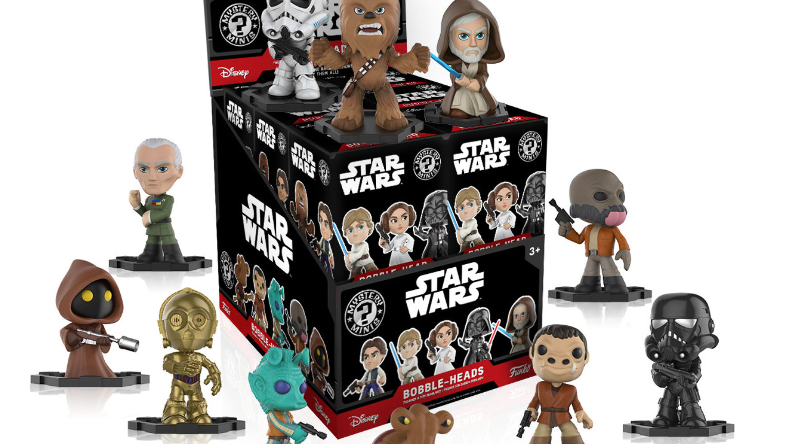All 4 New Star Wars Bobble Heads