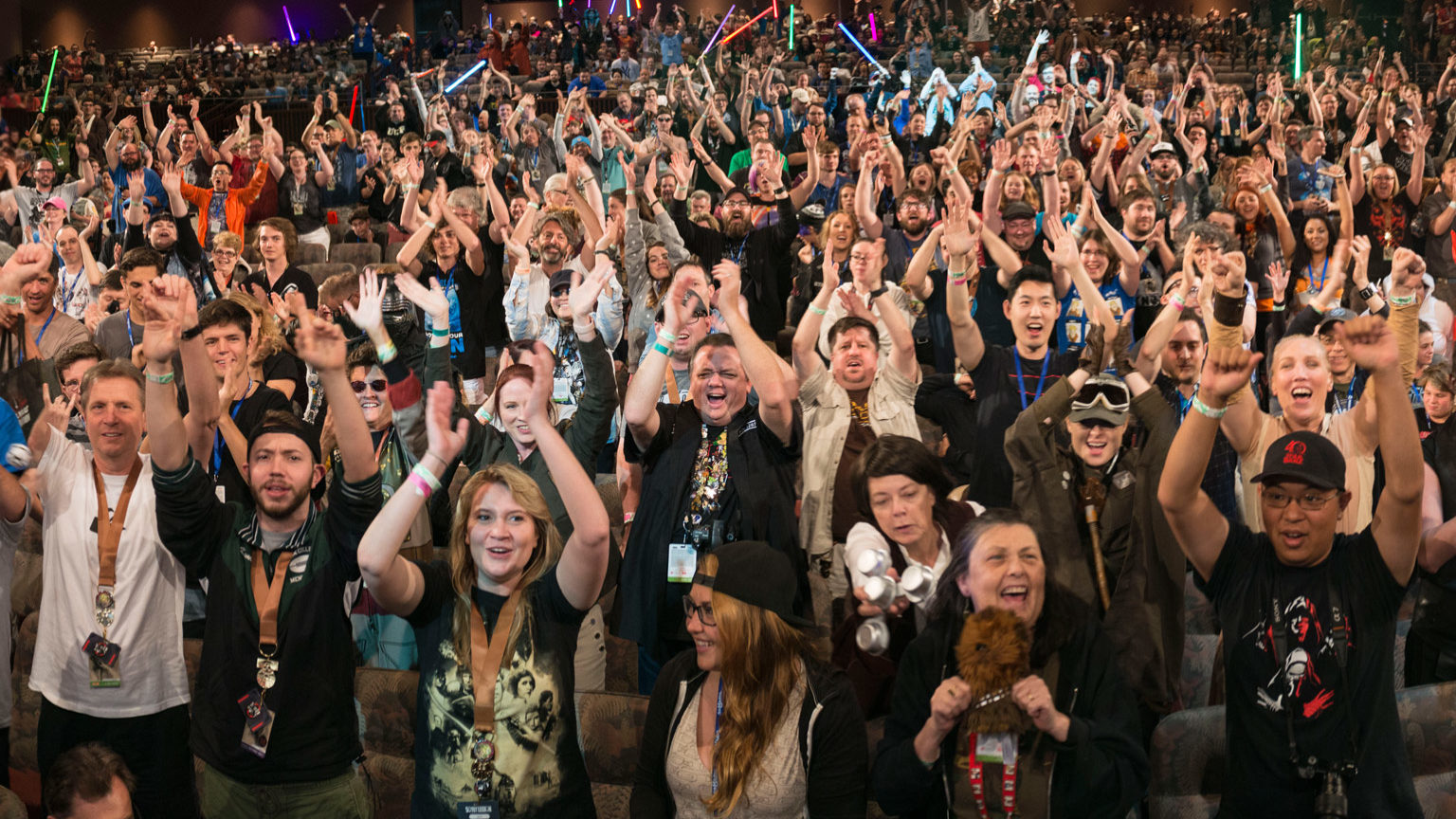 Fans at Star Wars Celebration.