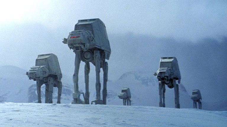 AT-ATs attack during the Battle of Hoth.