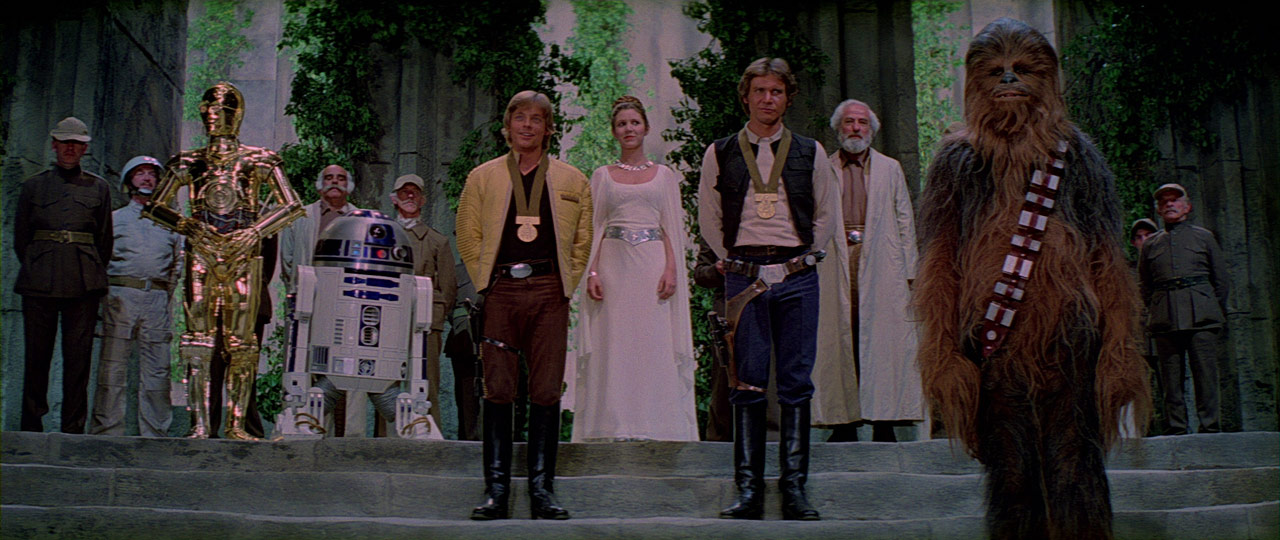 Award ceremony in A New Hope