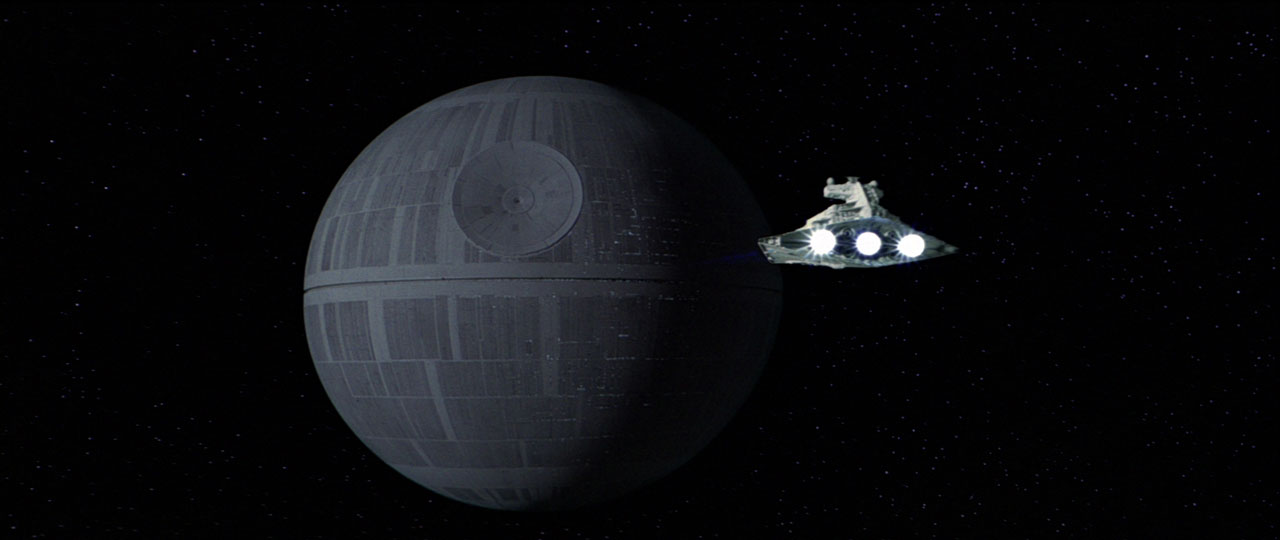 Star Destroyer approaches the Death Star