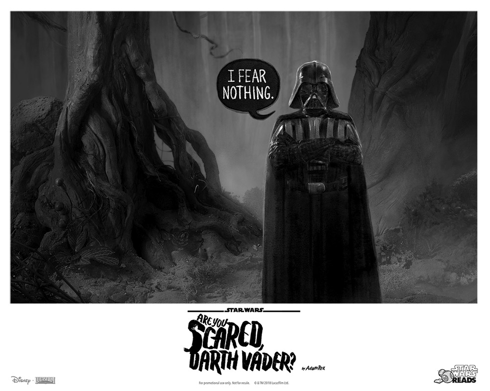 Are you scared, Darth Vader? poster image.