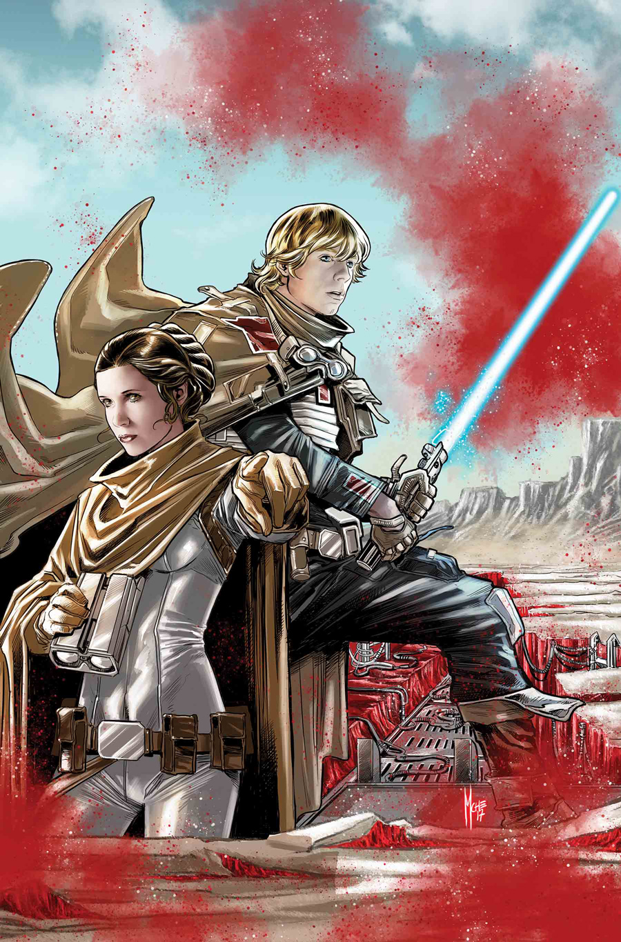 luke and leia star in star wars the last jedi storms of crait 1 exclusive. Black Bedroom Furniture Sets. Home Design Ideas
