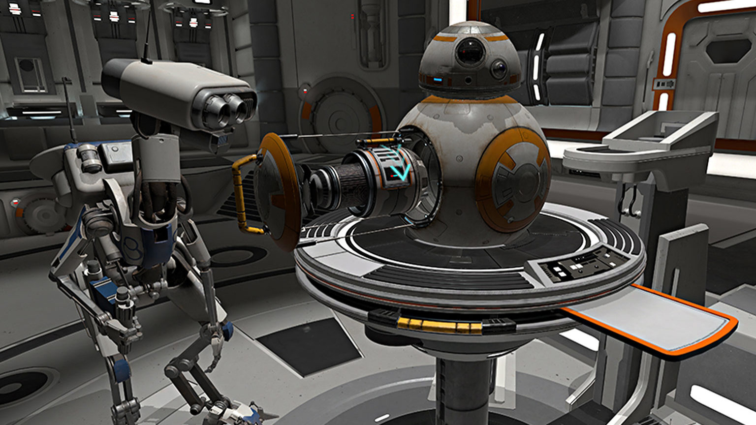 38f2fe8e55b Become a Resistance Mechanic in the New VR Experience Star Wars  Droid  Repair Bay