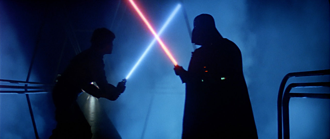 Luke Skywalker versus Darth Vader Empire Strikes Back