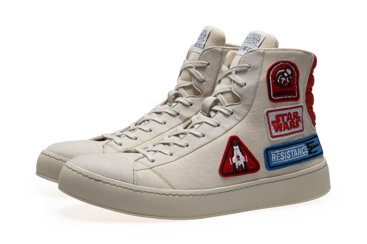 Star Wars Sneakers >> Spark Your Style With Po Zu S Resistance Badge Sneakers