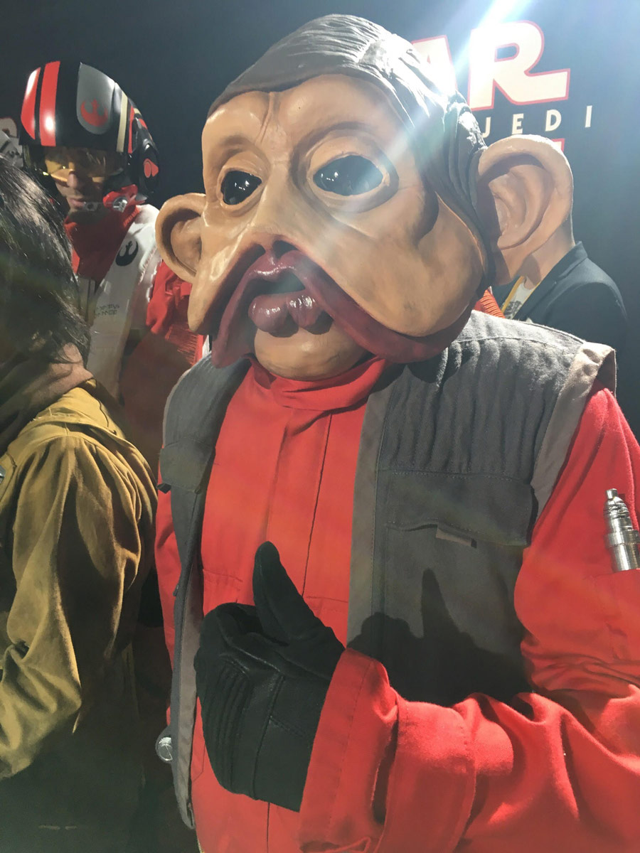These Star Wars The Last Jedi Cosplayers From The Red Carpet