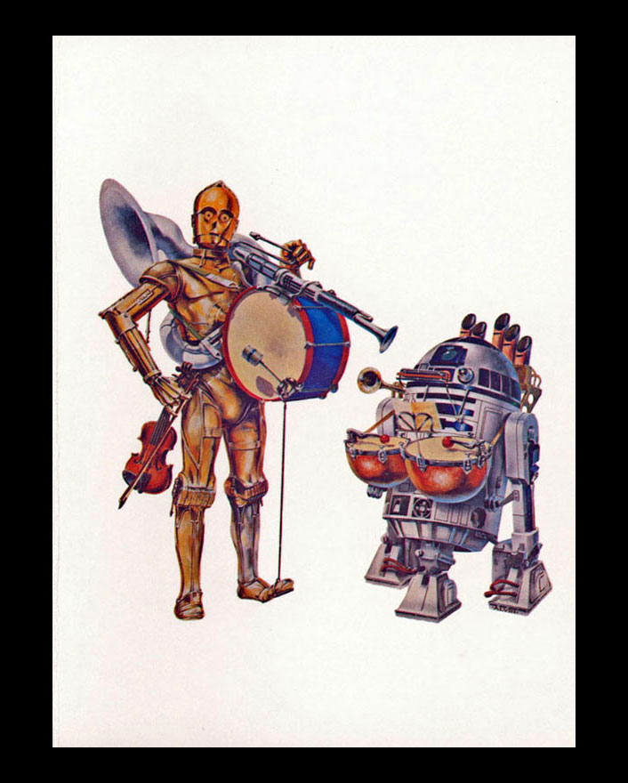 1978 star wars us for the us 1978 holiday card the star wars corporation utilized a famous illustration by john alvin of the droids equipped as a two man