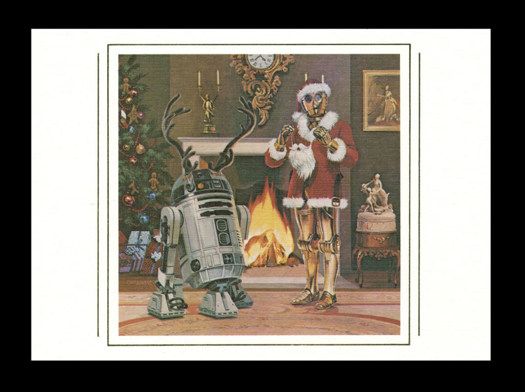 Lucasfilm holiday card featuring R2-D2 and C-3PO.