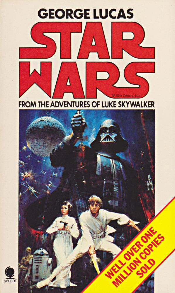 over 40 years of star wars a new hope novelization covers