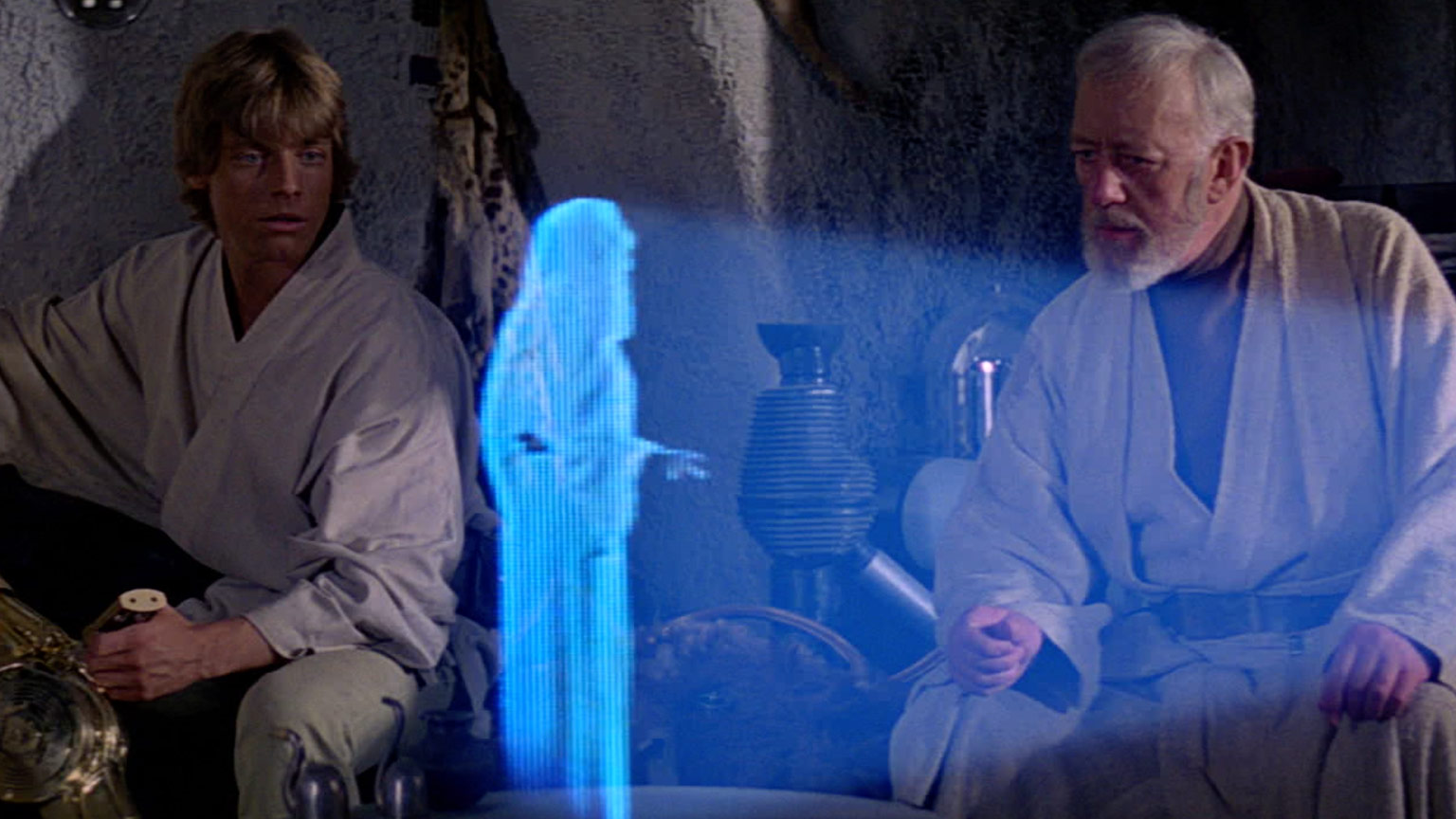 Obi-Wan and Luke in A New Hope