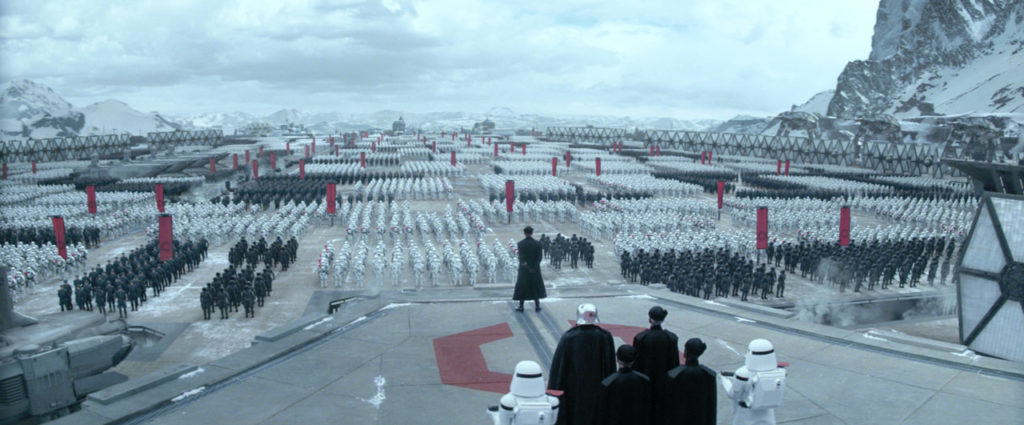 General Hux delivers a fiery speech in Star Wars: The Force Awakens.