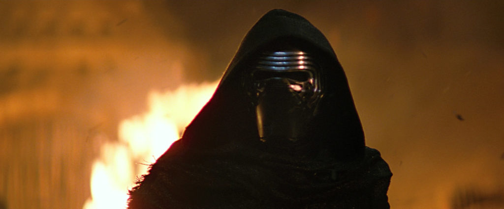Kylo Ren in Star Wars: The Force Awakens.