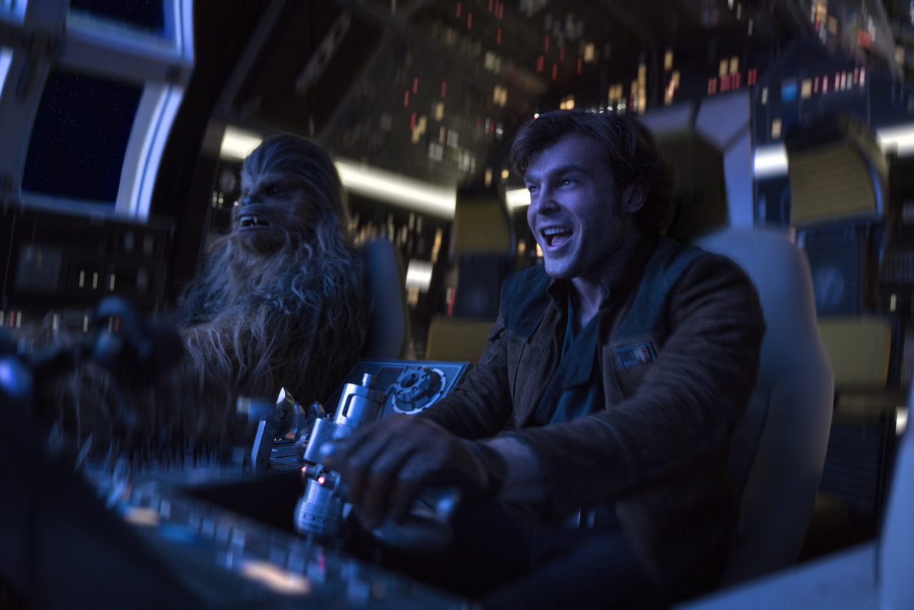 A scence form Solo: A Star Wars Story