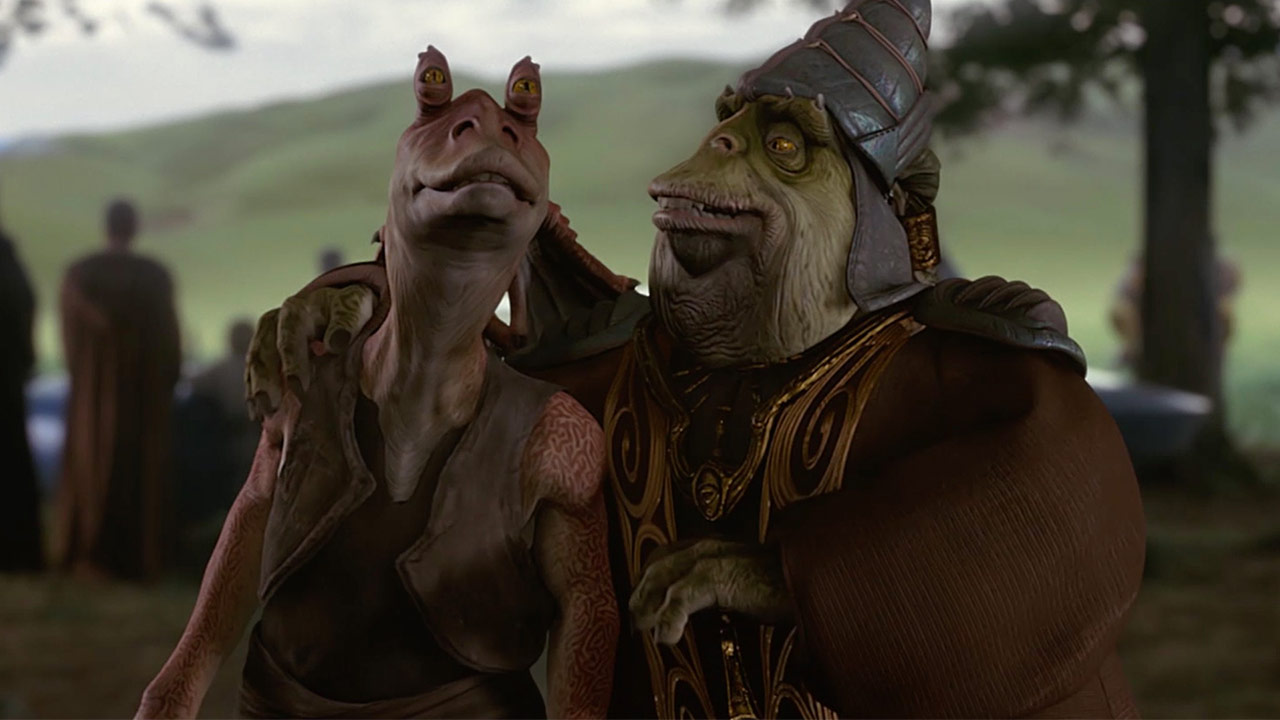 Boss Nass and Jar Jar Binks