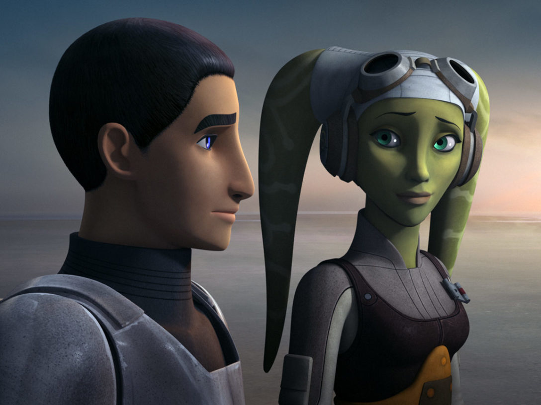 Hera and Ezra in Star Wars Rebels