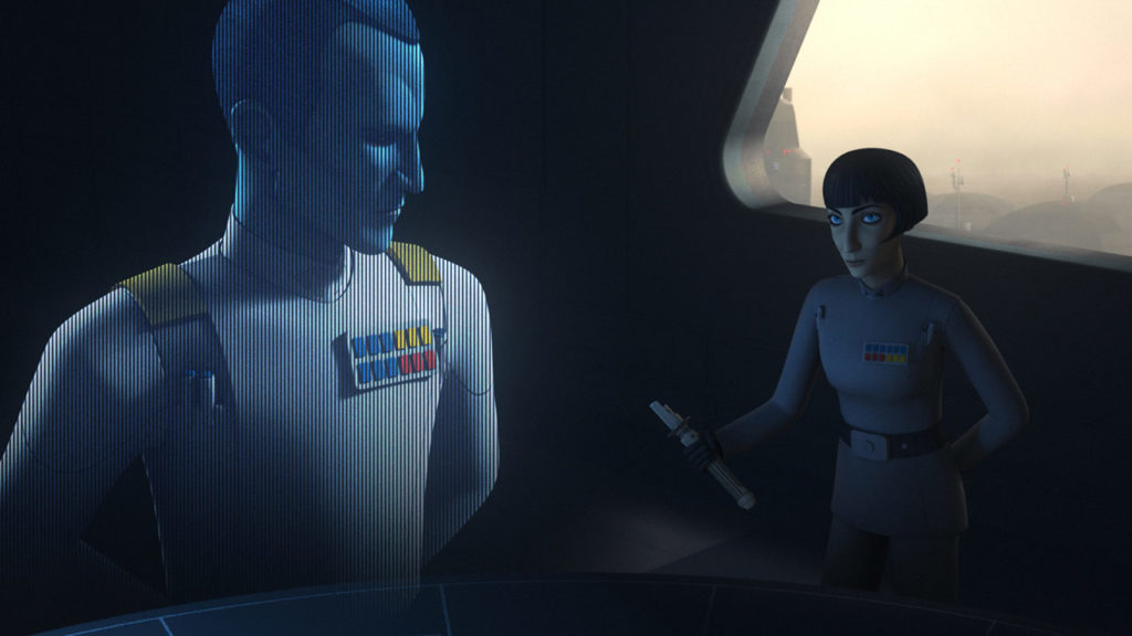 Thrawn and Pruce on Star Wars Rebels.