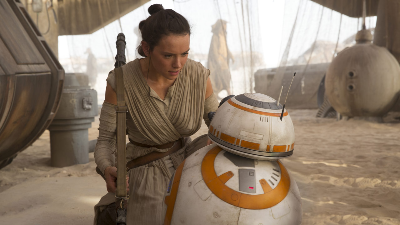 Rey and BB-8 The Force Awakens