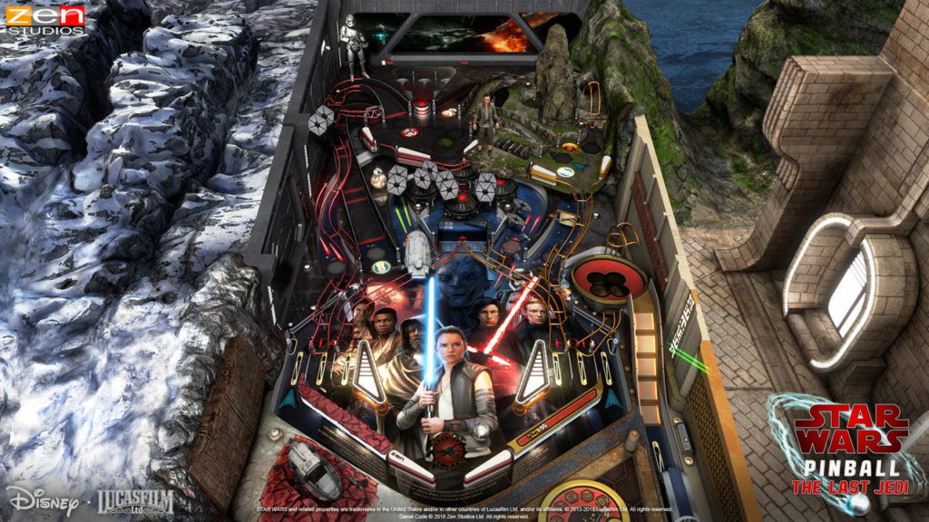 Star Wars Pinball - The Last Jedi table.