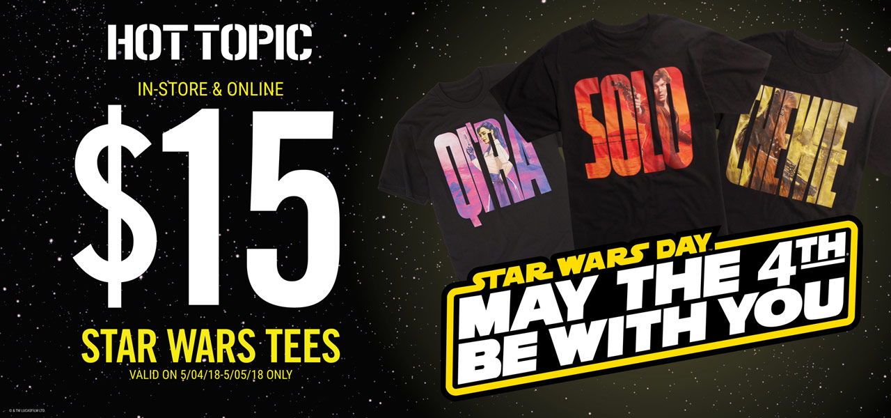 63775a4fe 40% off all Star Wars styles  Offer valid May 4