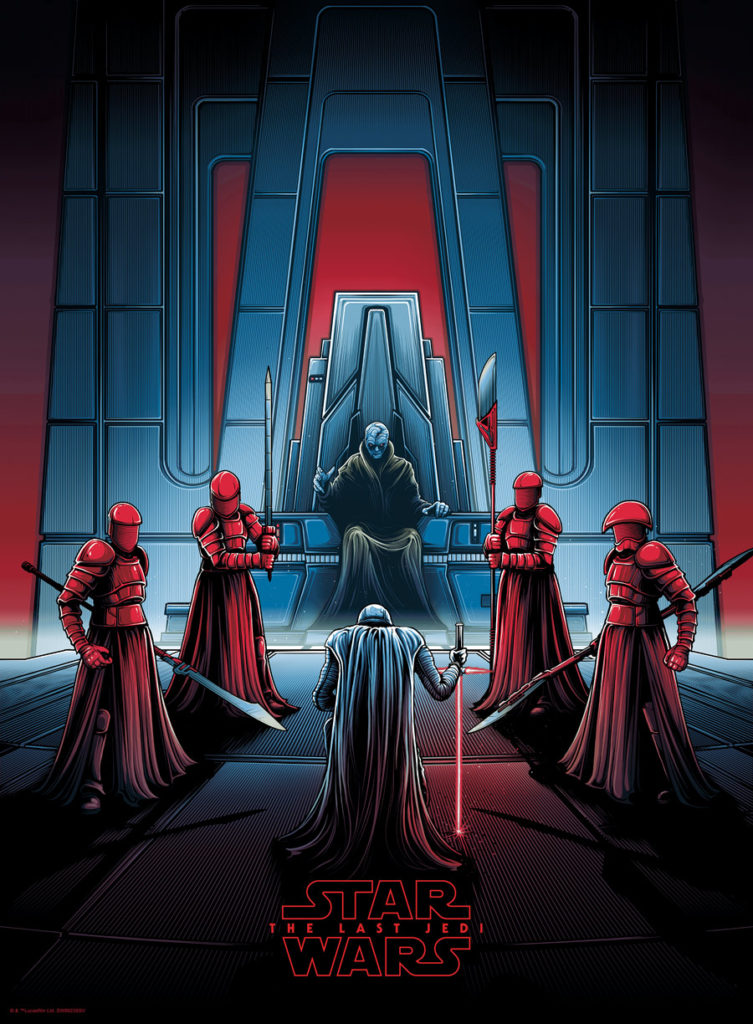Dan Mumford Star Wars: The Last Jedi print - Snoke's throne room