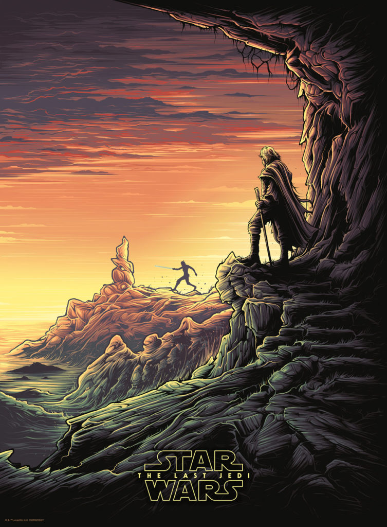 Dan Mumford Star Wars: The Last Jedi print - Luke and Rey