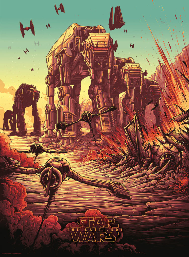 Dan Mumford Star Wars: The Last Jedi print - Battle of Crait