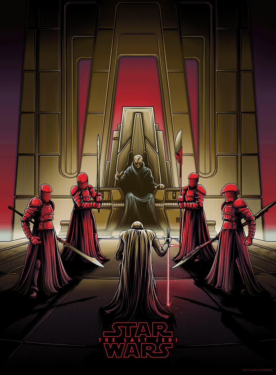 Dan Mumford Star Wars: The Last Jedi print - Snoke's throne room variant