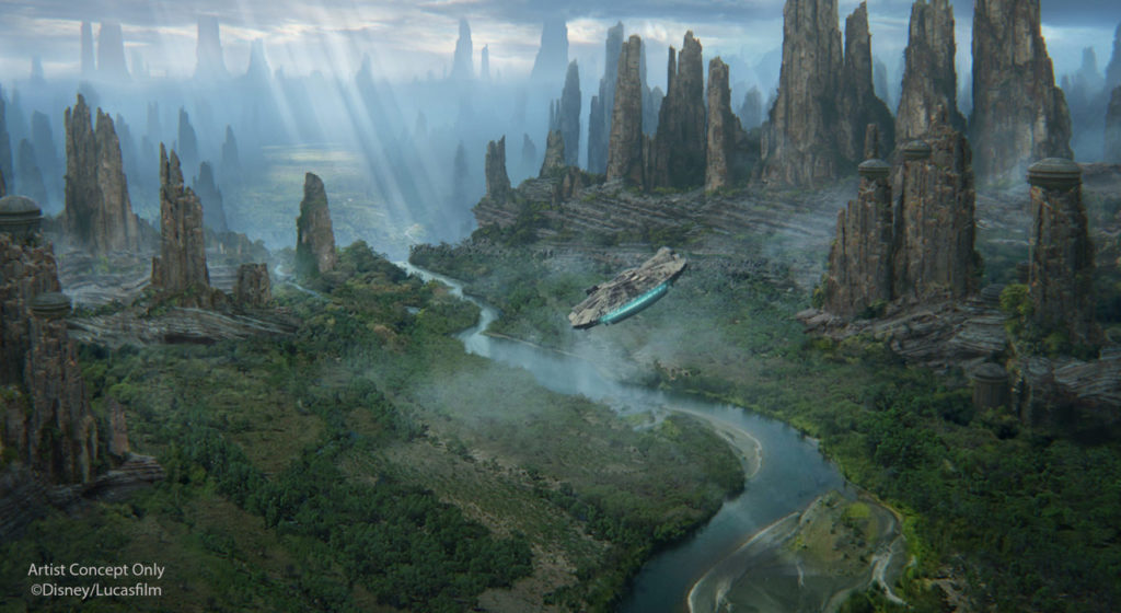 Black Spire Outpost concept art for Star Wars: Galaxy's Edge.