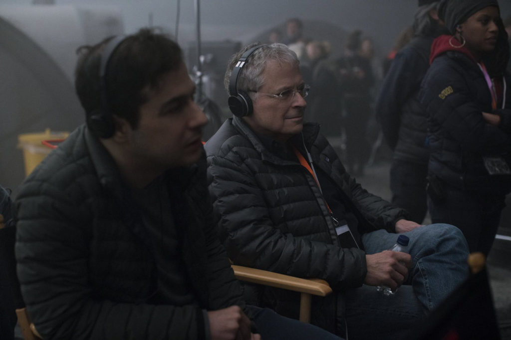 lawrence kasdan on set