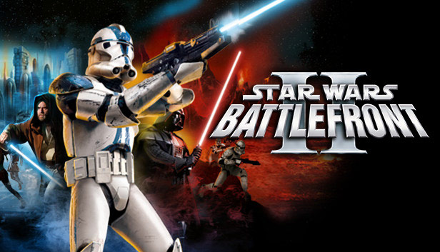 Star Wars Battlefront II (Classic, 2005) key art.