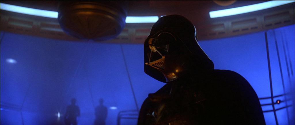 Darth Vader in the carbon freezing chamber.