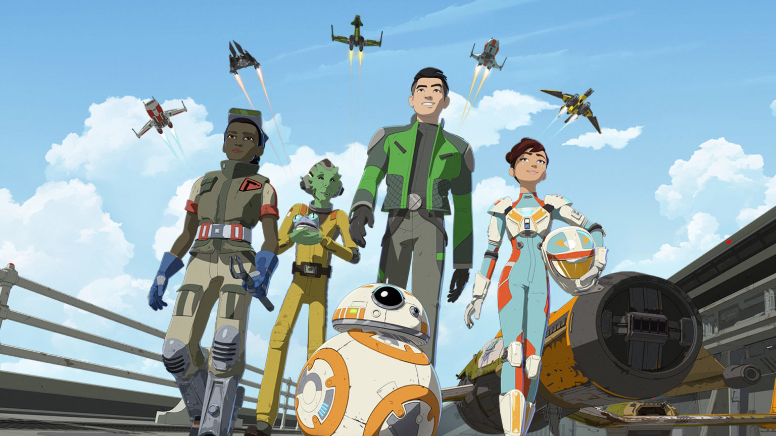 Team fireball in Star Wars Resistance.