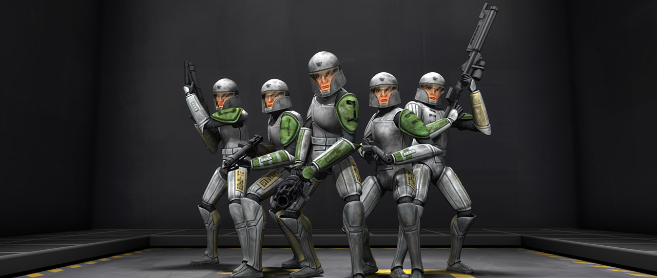 """A Scene from """"Clone Cadets"""""""