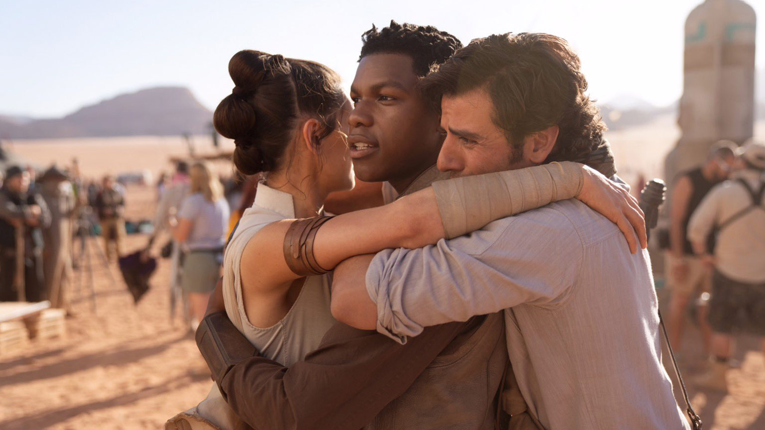 Cast and creator photos from the Episode IX set