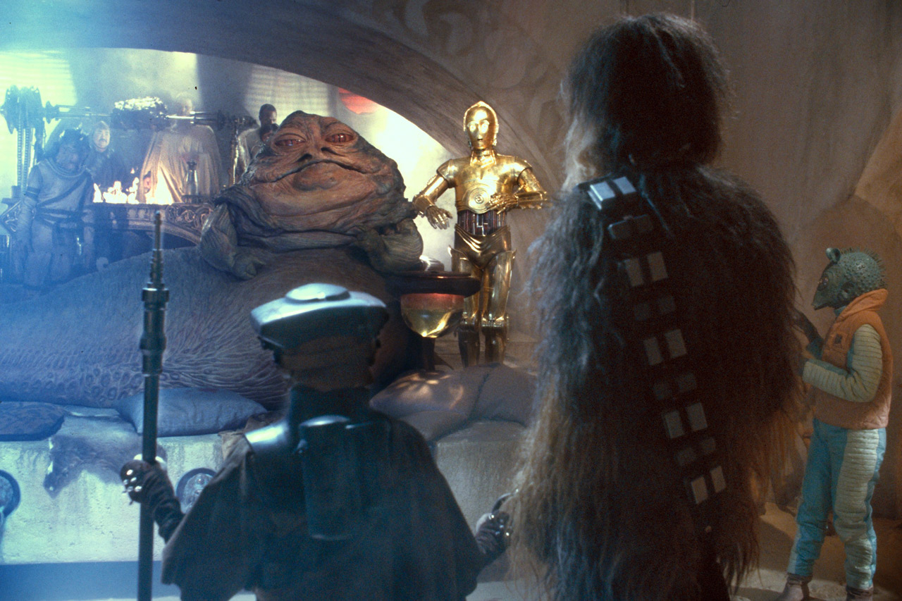 Chewie in Jabba's palace