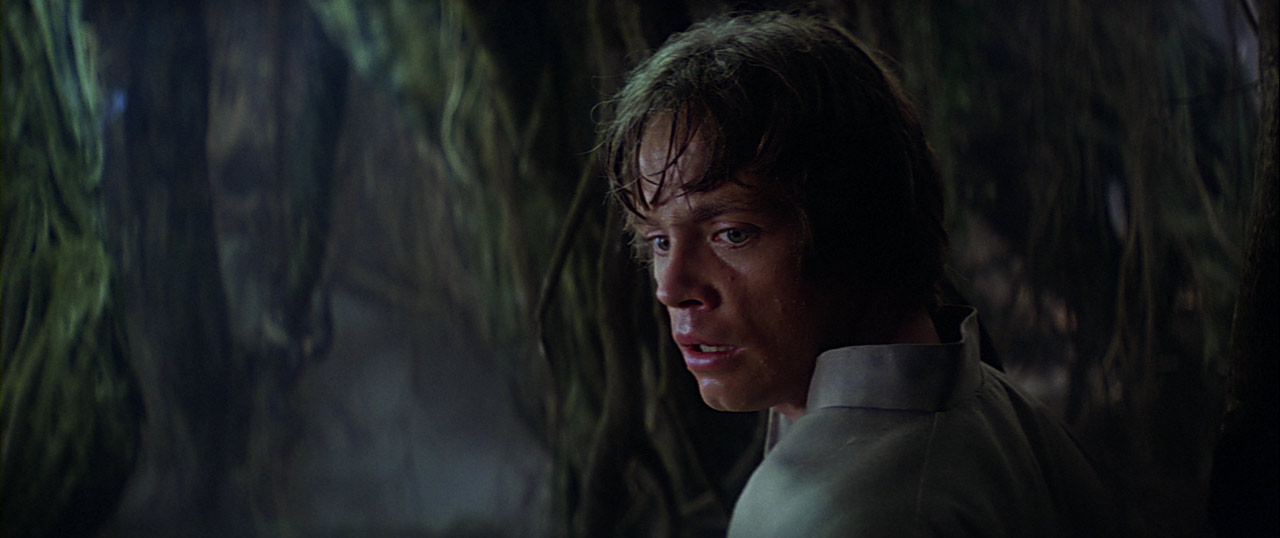 Luke Skywalker at Dagobah cave